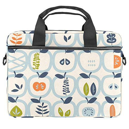 Apples and Leaves Laptop Bag Messenger Bag Slim Briefcase with Crossbody Shoulder Bag Computer Bag Computer and Tablet Carrying Case for 13.4-14.5In