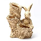 XINJINGHE Maceta Resina árbol Maceta Conejo Escultura suculentas Artificiales Trenzado Flotante Madera Multicapa Irregular Halloween decoración no Plantas