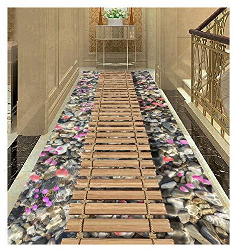 ditan XIAWU 3D Schlafzimmer Teppich Wohnzimmer rutschfest Kann Geschnitten Werden Treppe Bett (Color : A, Size : 120x240cm)