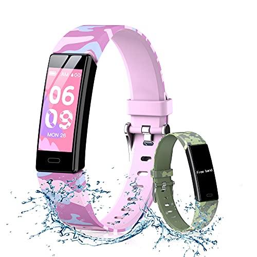 Yabely Smartwatch Pulsera Inteligente para niños y niñas, Reloj Inteligente Deportivo, Reloj Deportivo Pantalla Táctil de...