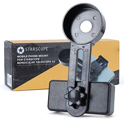 STARSCOPE Kit de montaje - Telescopio monocular para móvil | Adaptador para monoculares de largo alcance | Montura Monocular Starscope para teléfono | Telescopio móvil | Monocular para teléfono