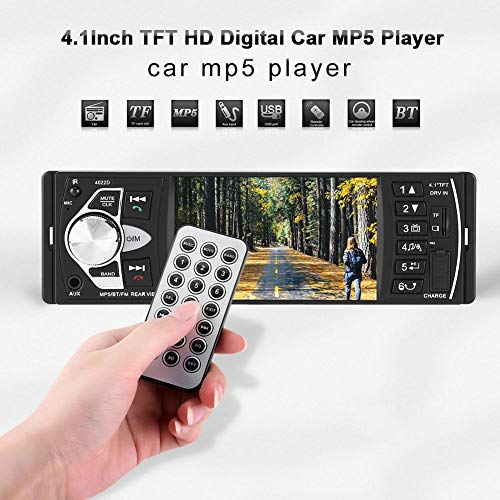 Qiilu 4.1 inch HD Bluetooth handsfree auto MP5 speler video FM radio AUX TF USB afstandsbediening speeltje (zonder camera)