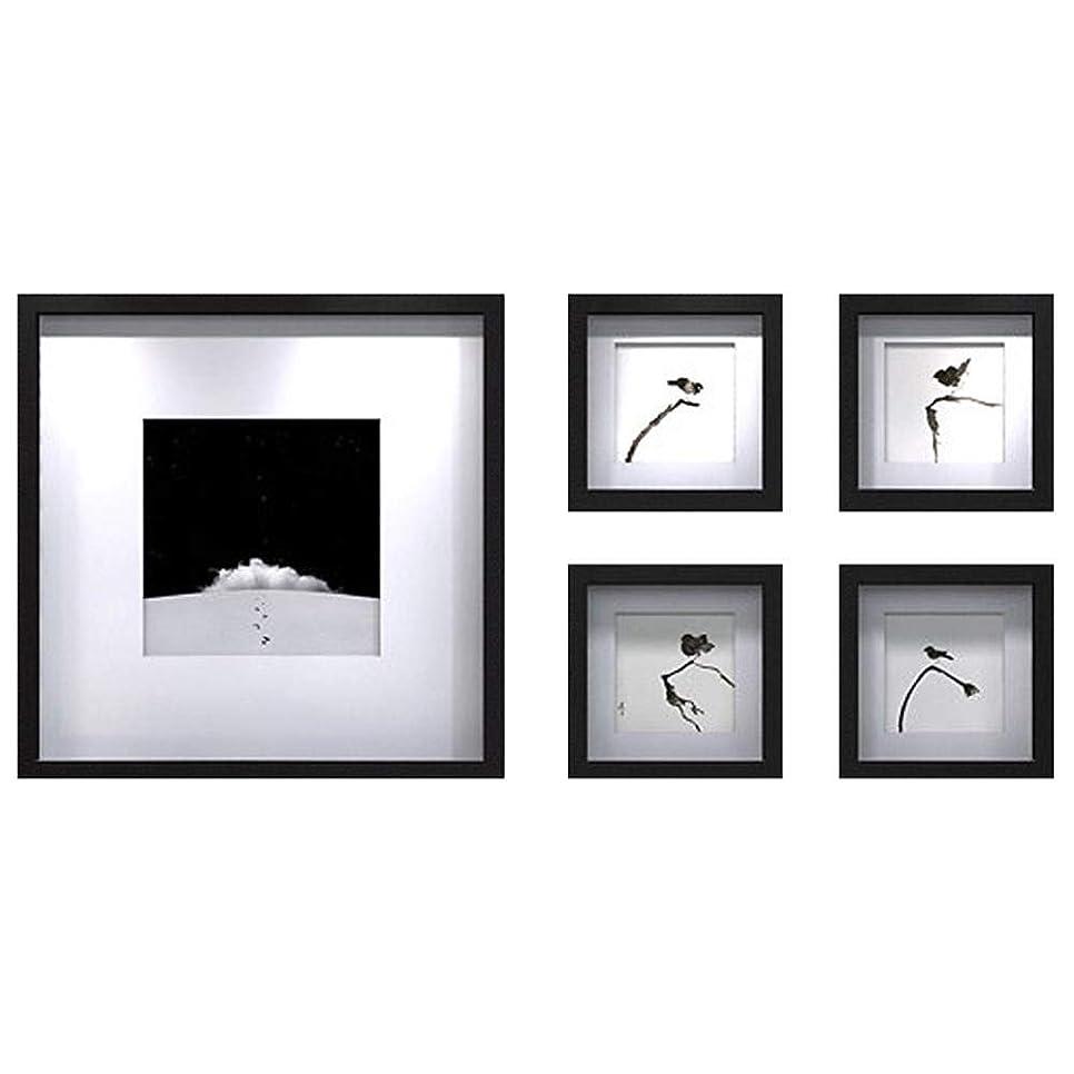 破壊的妻狂ったSUON 額縁コラージュ コラージュウォールセット 写真の壁 無垢材 デコレーション 5ピース額縁セット