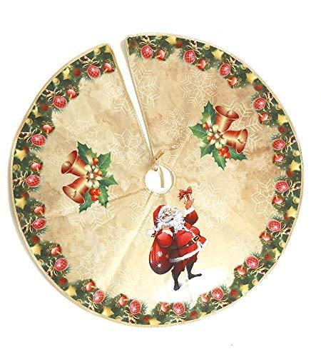 TrendLineMix Abdeckung Hülle Weihnachtsbaumständer Weihnachtsmann Glocke 70 cm klassisch Weihnachten