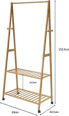 Amazon.com: LZXCOATRACK Perchero de pie de bambú desmontable ...