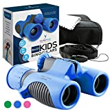 Binoculars for Kids High Resolution 8x21 - Blue Compact High Power Kids Binoculars for Bird Watching, Hiking, Hunting, Outdoor Games, Spy & Camping Gear, Learning, Outside Play, Boys & Girls