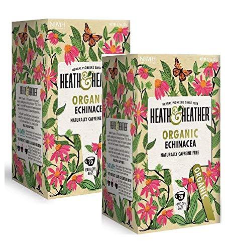 Heath & Heather Infusión orgánica de equinácea naturalmente libre de cafeína - 2 x 20 bolsitas de té (40 gramos)