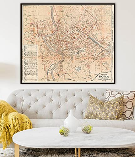 mapa antiguo de roma