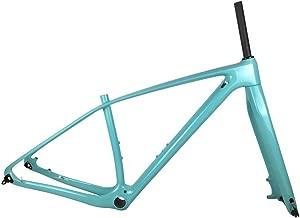 SmileTeam 29er Full Carbon MTB Frame and Fork T1000 Carbon Mountain Bike Frameset 142x12mm Thru Axle Bicycle Frame Celeste Glossy
