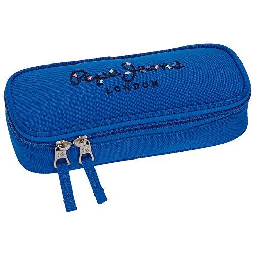 Estuche Pepe Jeans Harlow Azul con organizador interior
