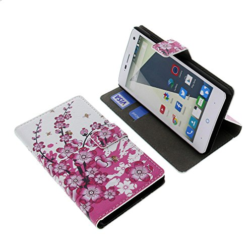 foto-kontor Tasche für ZTE Blade L3 Book Style Blüten Schutz Hülle Buch