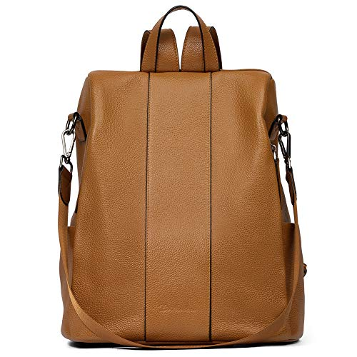 BOSTANTEN Leather Backpack Purse Anti-Theft Casual College Bags Fashion Travel Backpack Shoulder Handbags