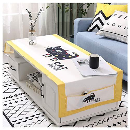 Nordic Koffie Tafelkleed Koffie Tafel Pad Woonkamer TV Kabinet Rechthoekige Cover Doek Kan Worden gewassen En Niet Gemakkelijk Te Fade LITTLE