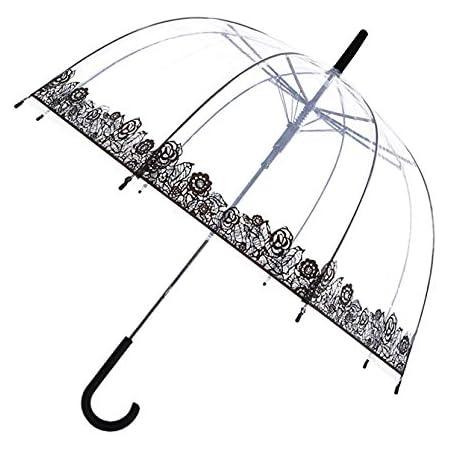 Farben Regenschutz durchsichtig NEU transparenter Regenschirm Automatik versch