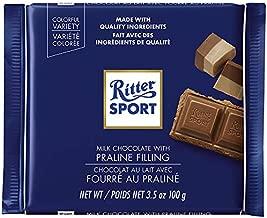 Ritter Sport Milk Chocolate with Nougat (Nugat) Praline 100g/3.52oz (Pack of 2)