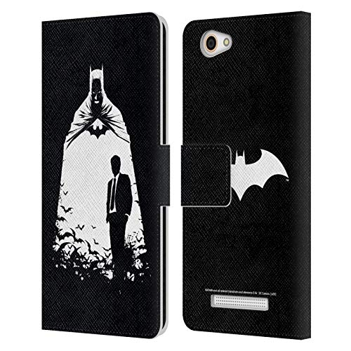 Head Hülle Designs Offizielle Batman DC Comics Alter Ego Bats Dualitaet Leder Brieftaschen Huelle kompatibel mit Wileyfox Spark X