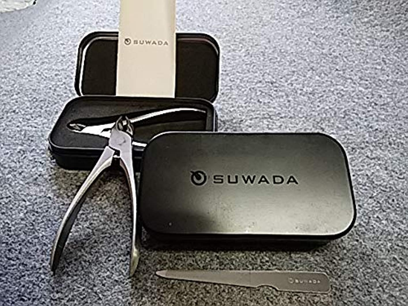 冗長チューインガム材料SUWADA スワダ 爪切りクラシックL&クラシック足用&suwada爪ヤスリ 3点セット
