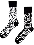 Many Mornings unisex Socken Black Maze (Schwarz-Weiß, 43-46)