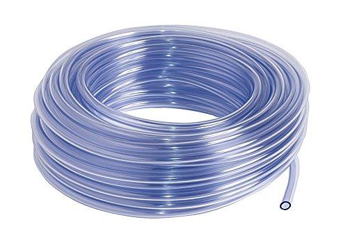 SIBO 25 Meter Klarer PVC Schlauch, Lebensmittelecht, Luftschlauch Ø 6x8mm (Innen/Außen), Länge Meter:25
