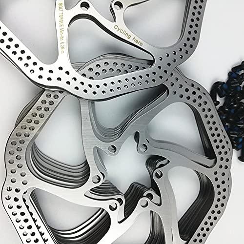 FYLYHWY Bici Disc Freno MTB Montaña Bicicleta Bicicleta Hubs Rosques Disco Disc para Frenador Adaptador Rotor de Freno 160mm / 180mm Acero Disco Freno Pieza de Bicicleta (Color : 160mm)