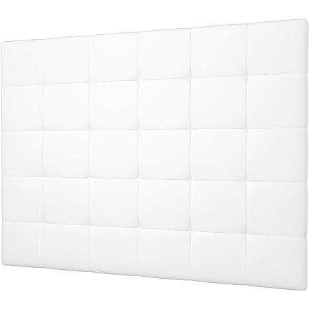 LA WEB DEL COLCHON - Cabecero tapizado Celio para Cama de 180 (190 x 120 cms) Blanco