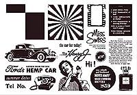 車の透明なクリアシリコンスタンプシールDIYスクラップブッキングフォトアルバム装飾B093