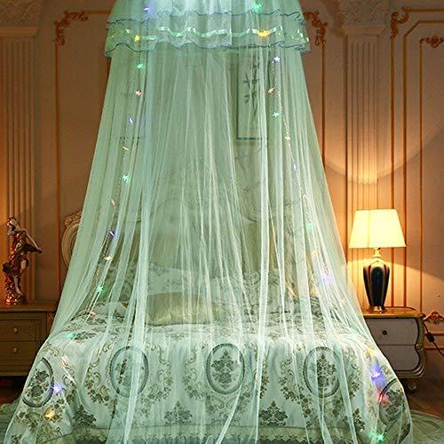 Moskitonetz mit LED-Licht, Prinzessinnen-Design, Moskitonetz, Schlafzimmer-Dekoration, Luxus-Prinzessinnen-Betthimmel, Moskitonetz für Mädchen