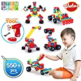 VATOS Building Toys, STEM Toys 550 Piece Creative Construction Engineering Learning Set for 5, 6, 7,...