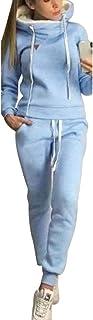 Chandal Conjunto para Mujer Invierno Otoño Casual Conjuntos Deportivos, Moda Manga Larga Pullover con Cordón Sudadera Tops...