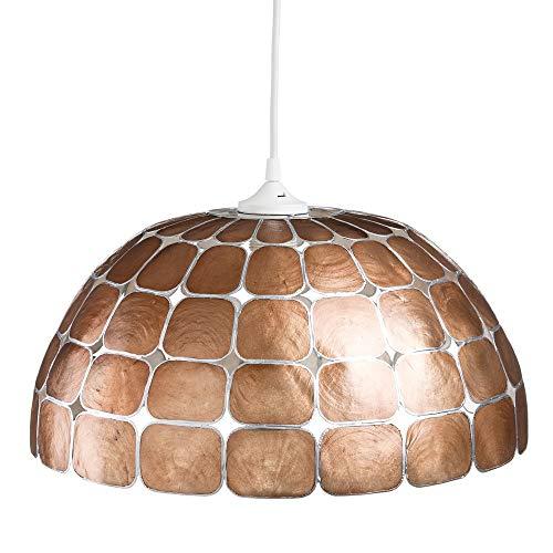 Lámpara de techo de nácar bronce de salón vintage para comedor Bretaña - LOLAhome