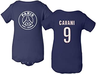 Paris Soccer Shirt #9 Cavani Little Infant Baby Short Sleeve Bodysuit