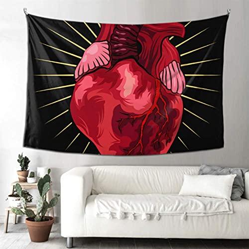 N\A Tapiz de Pared Completo Scary Human Anatomy Heart Decor Art Wall Room Tapiz de Pared Arte para Colgar en la Pared Hogar para Sala de Estar Dormitorio