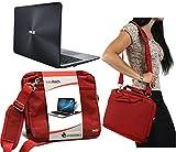 Navitech Rotes Prime Case/Cover Trage Tasche für das ASUS EeeBook X205TA