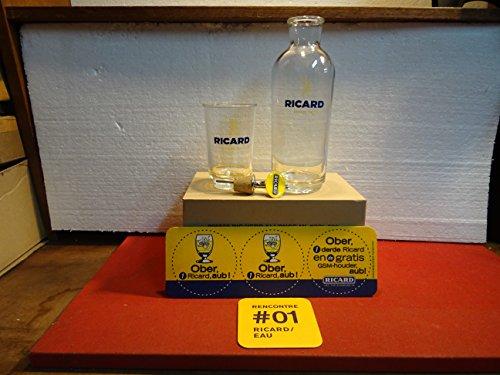 Ricard Gläser, 6 Stück, 270 ml + 1 x Karaffe + 1 x Messbecher + 2 x Untersetzer