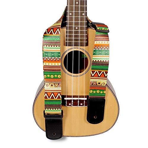 LanLan Correas de Guitarra Folk, impresión de Estilo Nacional Gruesas, Correas Ukelele,...