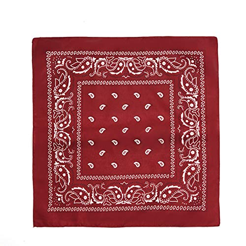 SHIFWE - Pañuelo cuadrado de algodón para mujer (3 unidades, 55 x 55 cm), diseño de hiphop