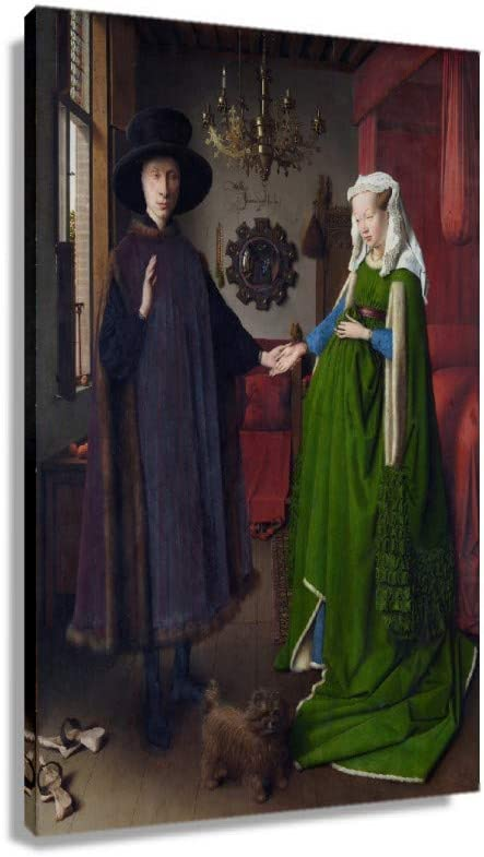 Jan Van Eyck The Arnolfini Portrait Canvas f outlet Poster Max 79% OFF Wall Artwork