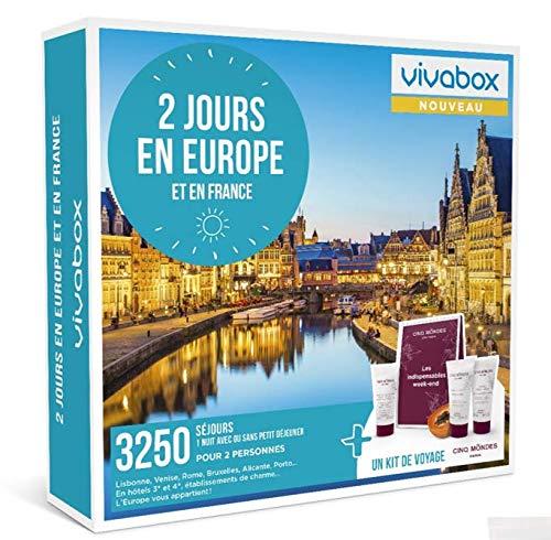 Vivabox - Coffret cadeau couple - 2 JOURS EN EUROPE - 3250 week-ends romantiques en Europe