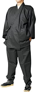 作務衣 日本製 メンズ 綾織り作務衣(さむえ)-綿100% 13色