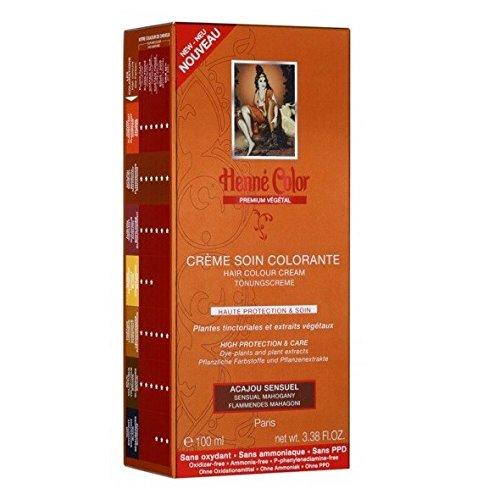 Crème Soin Colorante Acajou Sensuel Henné Color Premium Végétal - 100 ml
