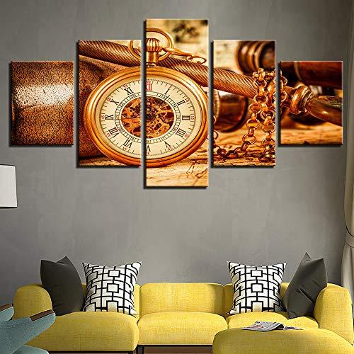 Fleece canvas afbeelding 5 woonkamer afbeelding kunstdruk op canvas muurschildering gedrukt schilderij modulaire poster canvas 5 panelen oude rekenmachine wandafbeelding frame kunst voor woonkamer wooncultuur Kun