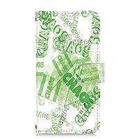 PU手帳型 カードタイプ スマホケース BASIO4 (KYV47) 用 ビンテージ・グリーン ペイント USA 落書き ビンテージ 京セラ ベイシオ フォー au スマホカバー 携帯ケース スタンド chaos 00l_118@04c