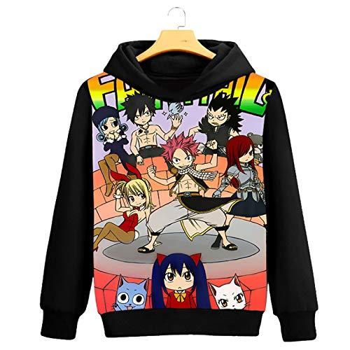 HOSD Suéter de Hombre Ropa de Anime más Ropa de Abrigo de Terciopelo