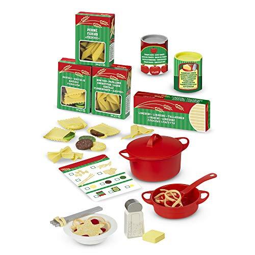 Melissa & Doug- Set Pasta da Preparare e Servire Giocattolo, Multicolore, 19361