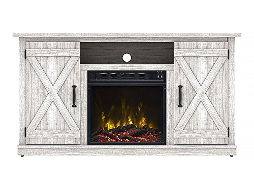 Comfort Smart Killian Electric Fireplace TV Stand, Sargent Oak electric Fireplaces