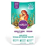 HALO Vegan Dry Dog Food - Premium and Holistic Ocean of Vegan Recipe - 21 Pound Bag - Sustainably Sourced Adult Dry Dog Food - Non-GMO and Made in The USA
