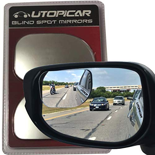 Blind Spot Mirrors XLarge for SUV, Vans, Pick up Trucks | Engineered by Utopicar car accessories (2pack)