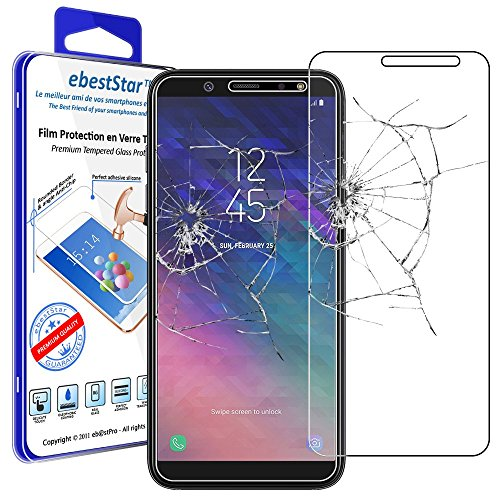 ebestStar - Cristal Templado Compatible con Samsung A6 Galaxy 2018 SM-A600F Protector de Pantalla, Película Vidrio Protectora Ultrafina, Dureza 9H, Sin-Burbujas [Aparato: 149.9 x 70.8 x 7.7mm, 5.6'']