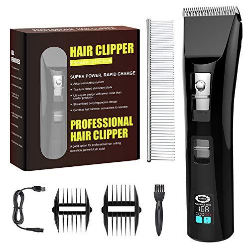 AceLife Haarschneidemaschine für Männer, Haarschnitt All-in-One-Haarschneider mit 2000mAh Akku-LED-Display,Bartschneider Haarschneider Set Professionelles Pflege-Haarschnitt-Kit für Erwachsene