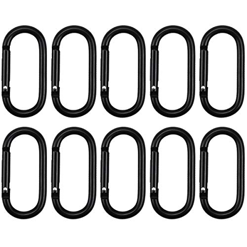 wangjiangda Karabiner 10 Stück Schlüsselanhänger, Karabinerhaken, Belastbarkeit Karabinerhaken, Schnapphaken für Camping, Wandern, Reisen, Hängematten, Angeln, Rucksack, Hängematte, Outdoors usw